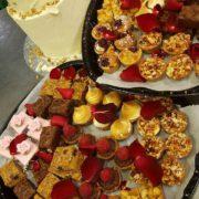 dessert platter and carrot cake